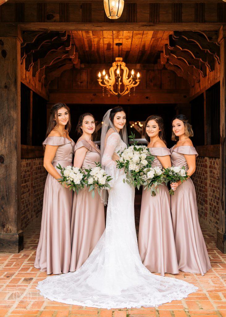 The Farm Rome GA Wedding bridesmaids