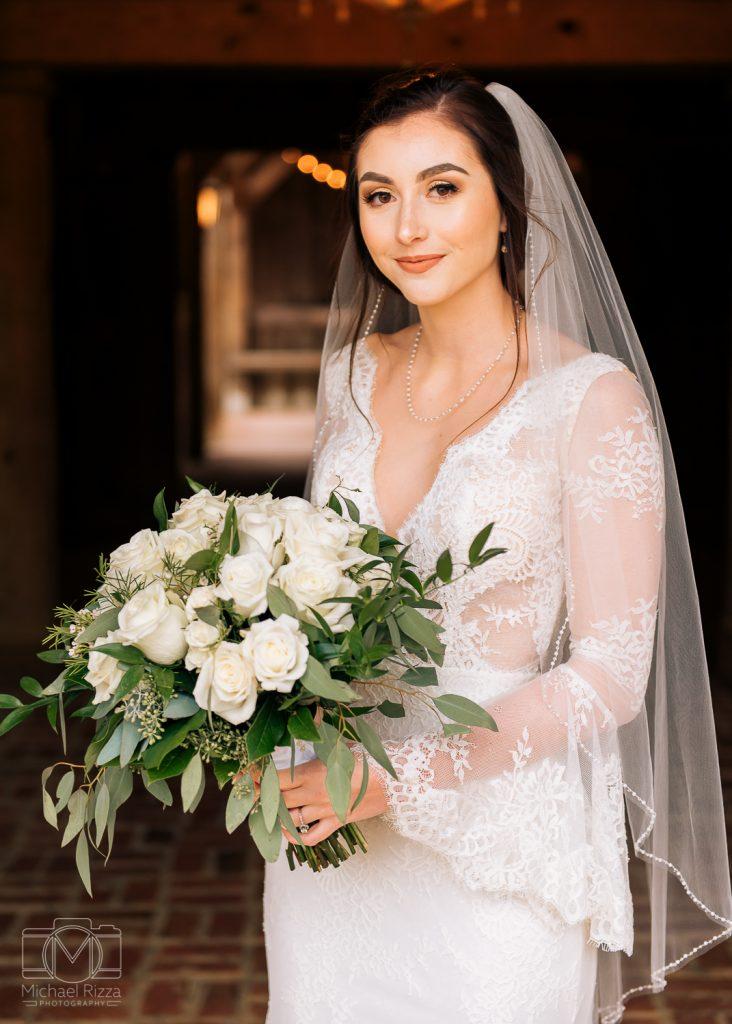 The Farm Rome GA Wedding bride