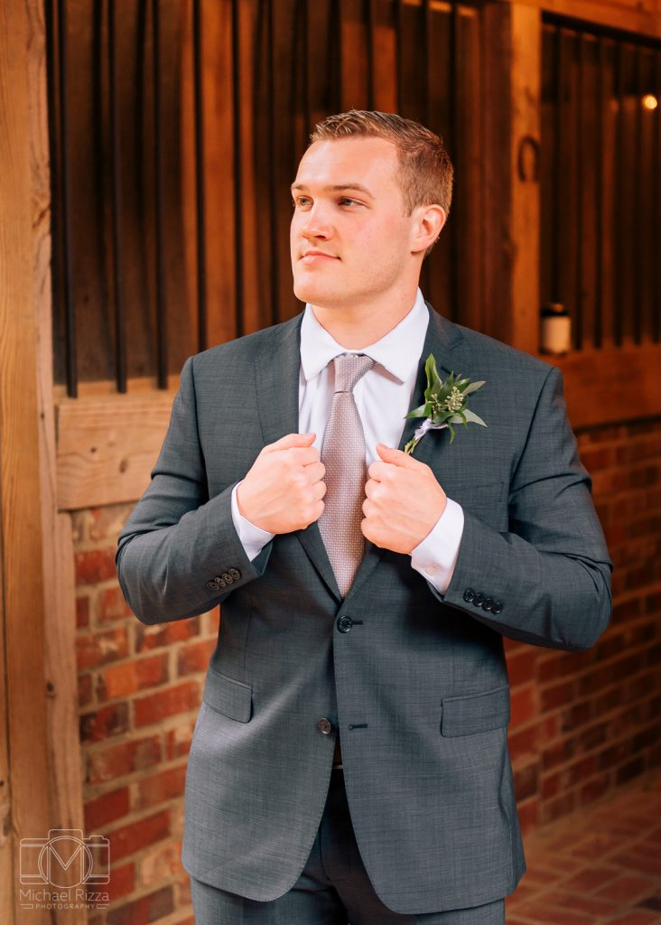 The Farm Rome GA Wedding groom