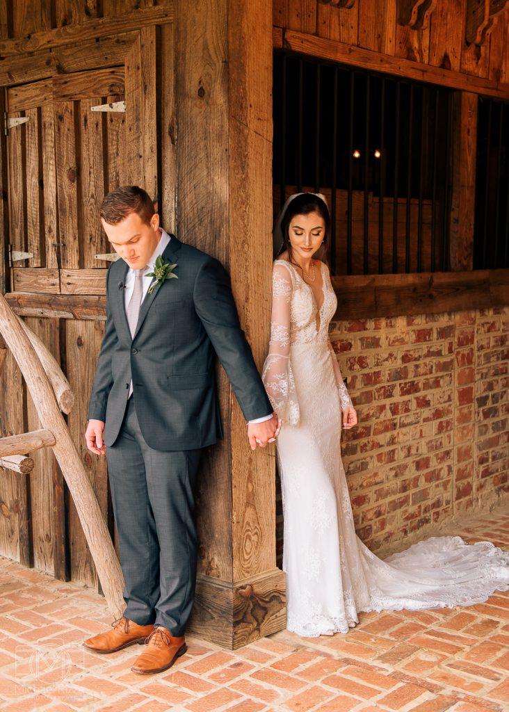 The Farm Rome GA Wedding first look