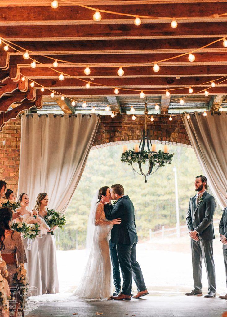 The Farm Rome GA Wedding ceremony