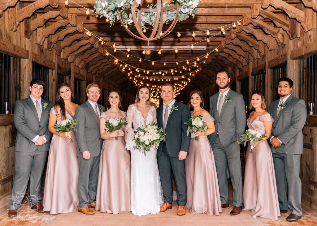 The Farm Rome GA Wedding bridal party