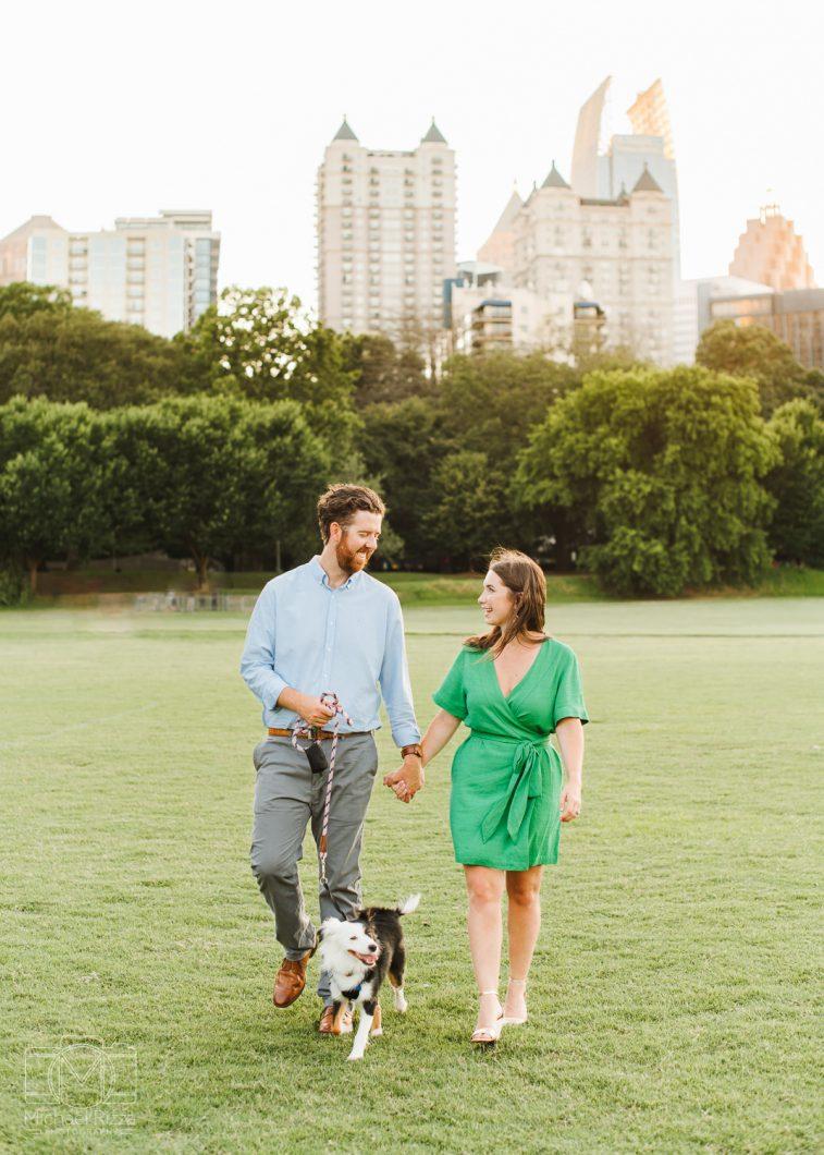 Piedmont Park Engagement Photo